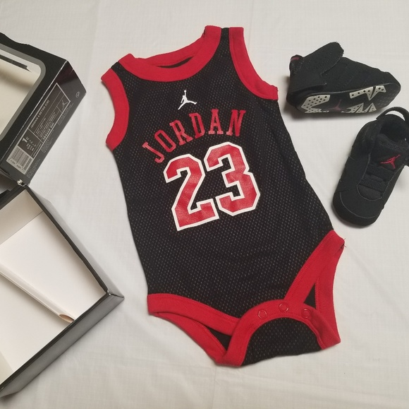 55b5c2986c45 Jordan Other - Rare Jordan Retro 6 Varsity Red and jersey onesie